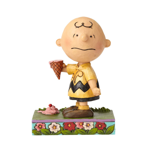 Jim Shore Charlie Brown with Ice Cream 4055657