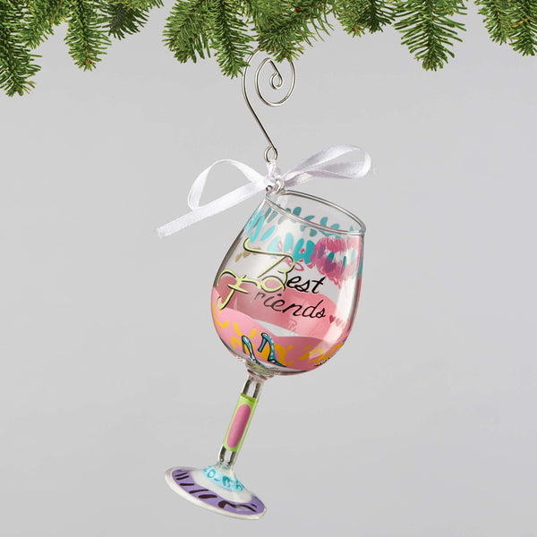 Lolita Wine Glass Best Friends Always Ornament 4056335