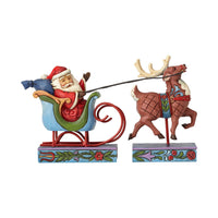 Jim Shore Santa In Sleigh 4056609
