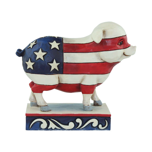 Jim Shore Mini Patriotic Flag Pig 4056951