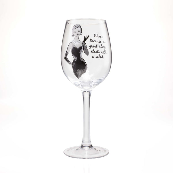 SASS Wine Glass No Great Story 4058096