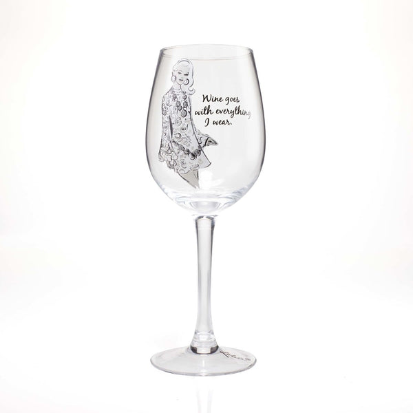 Lolita Wine Glass Wine Goes w/Everything 4058099