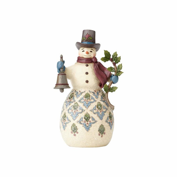 Jim Shore Victorian Snowman with Bell 4058753