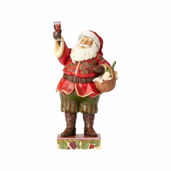 Jim Shore Santa with Wine Glass/Basket 4058788