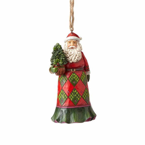 Jim Shore Evergreen Santa Ornament 4058815