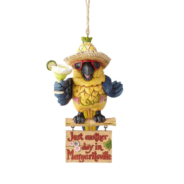 Jim Shore Margaritaville Parrot Ornament 4059124