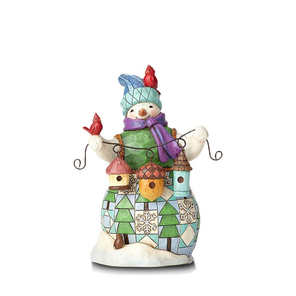 Jim Shore Snowman w/Birdhouse 4059132