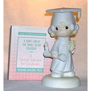 Precious Moments Pm Blonde Grad Girl W/Diploma Book 4721B