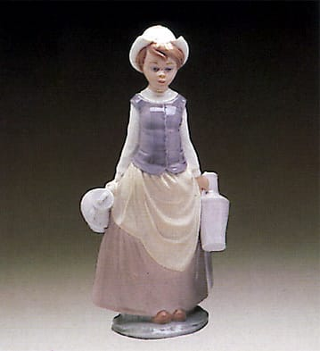 Lladro Girl With Milk Pail 4939G