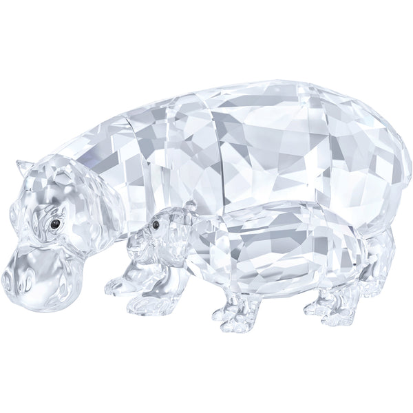 Swarovski Hippo Mother with Baby - SIGNED 5453408