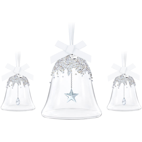 Swarovski 2016 Christmasl Bell Ornament Set Of 3 5223283