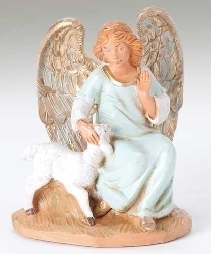 Fontanini Olivia Angel With Lamb 52520