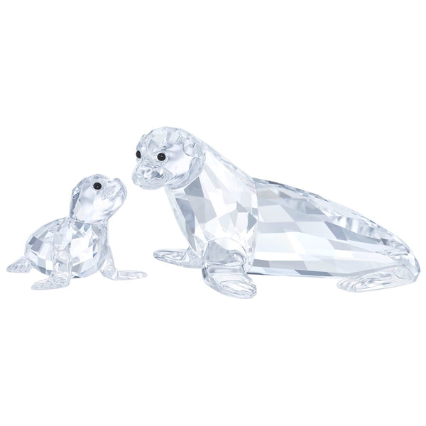 Swarovski Sea Lion Mother With Baby - SIGNED 5413238
