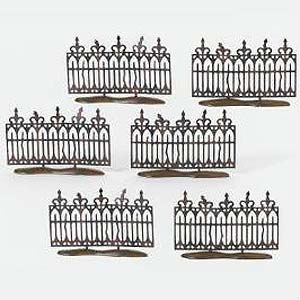 D56 Spooky Wrought Iron Fence - Set Of 6 52982