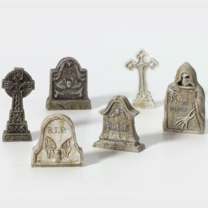 D56 Village Tombstones - Set Of 6 53065