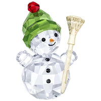 Swarovski Snowman With Broom Stick - SIGNED 5484812