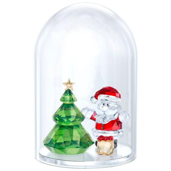 Swarovski Bell Jar - Christmas Tree & Santa - SIGNED 5484807