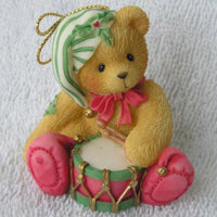 Cherished Teddies Cherished Teddy Playing Drum Hanging Orn 546550