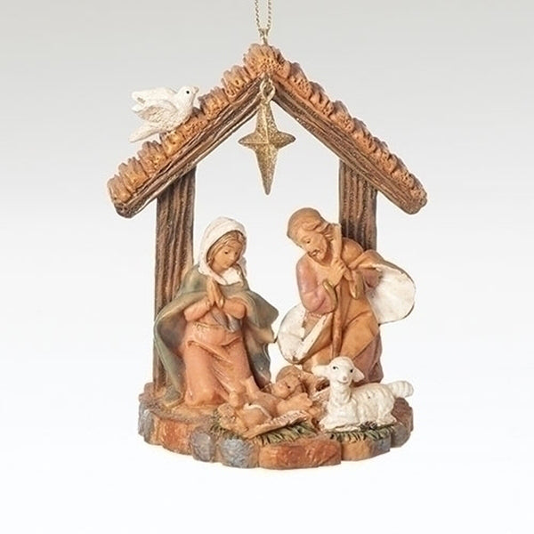 Fontanini Holy Family Stable Ornament 56373