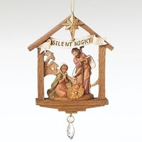 Fontanini Holy Family Stable Ornament w/Drop Dangle 56382