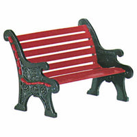 D56 Village Red Wrought Iron Park Bench 56445