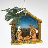 Fontanini Holy Family With Stable Orn 57011