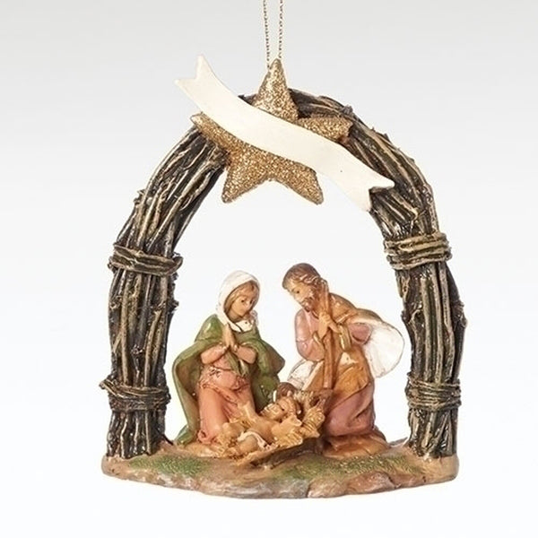 Fontanini Holy Family In Arch Ornament 57015
