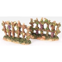 Fontanini Grapevine On Fence - 2 Pieces 59527