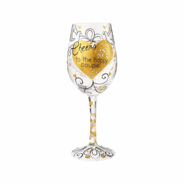 Lolita Wine Glass Cheers To The Happy Couple 6000016