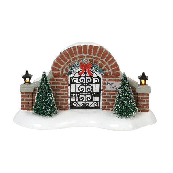 D56 Snow Village Gate 6000642