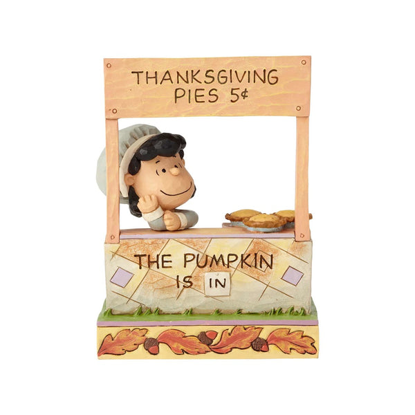 Jim Shore The Pumpkin Is In - Lucy Thanksgiving Pie Stand 6000979