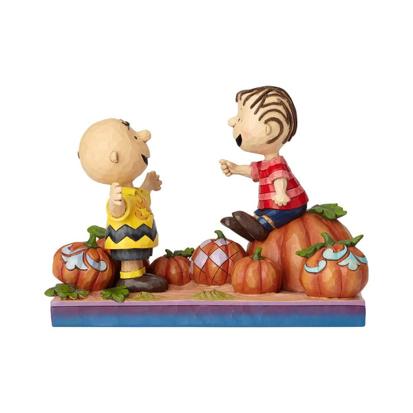 Jim Shore Pumpkin Patch Pals - Charlie Brown & Linus Pumpkin 6000980
