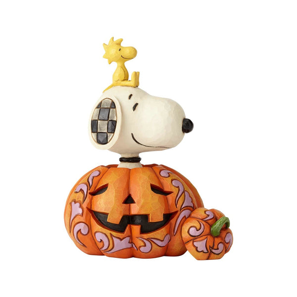 Jim Shore The Pumpkin King - Snoopy Woodstock in Pumpkin 6000981