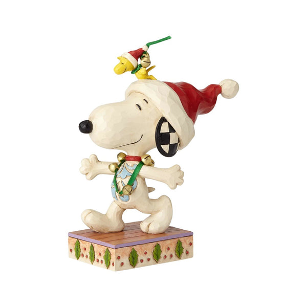 Jim Shore Jingle Bell Buddies - Snoopy and Woodstock with Jingle Bells 6000985