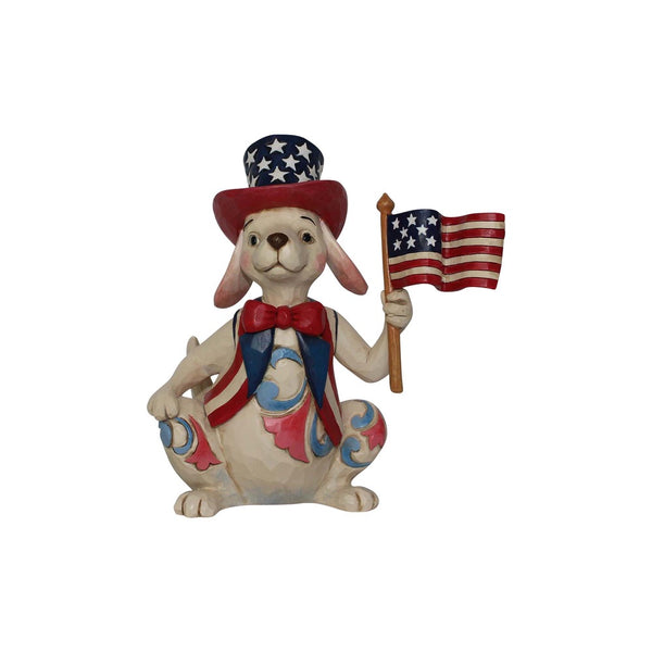 Jim Shore Pint Size Patriotic Dog w/Flag 6001087