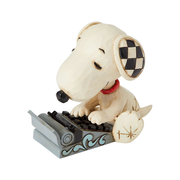 Jim Shore Snoopy Typing Mini 6001298