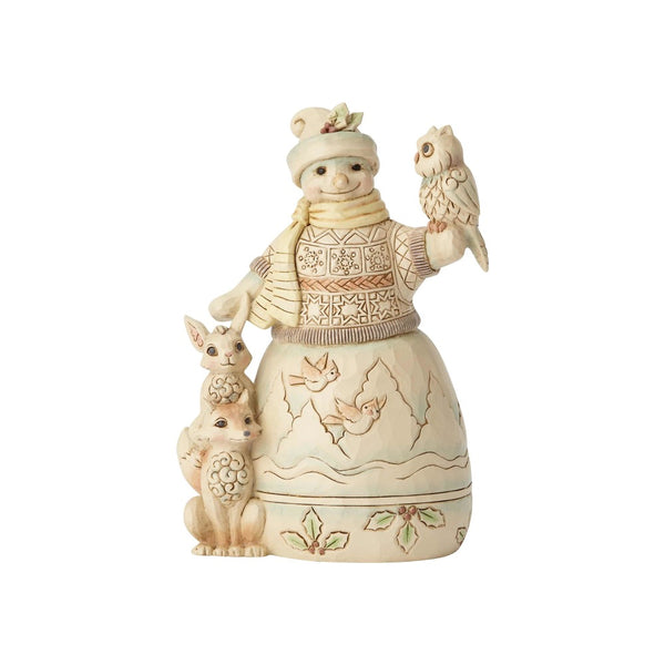 Jim Shore Woodland Snowman with Owl 6001416