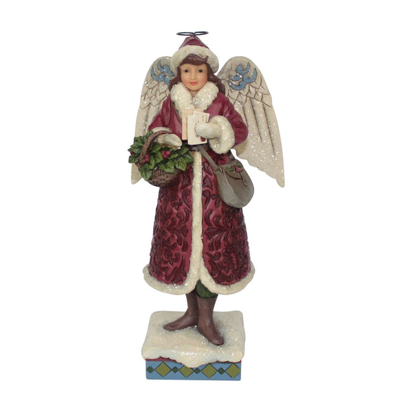 Jim Shore Merry Messenger - Victorian Angel with Cards 6001429