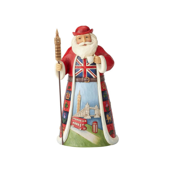 Jim Shore A British Christmas British Santa Around the World 6001452