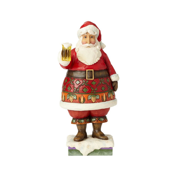 Jim Shore Here's to the Holidays - Craft Beer Santa 6001470