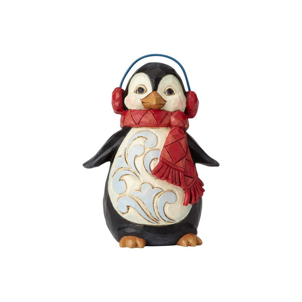 Jim Shore Mini Penguin with Ear Muffs 6001499
