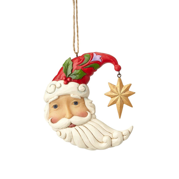 Jim Shore Crescent Moon Santa Ornament 6001503