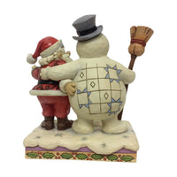 Jim Shore Frosty and Santa Hugging 6001584
