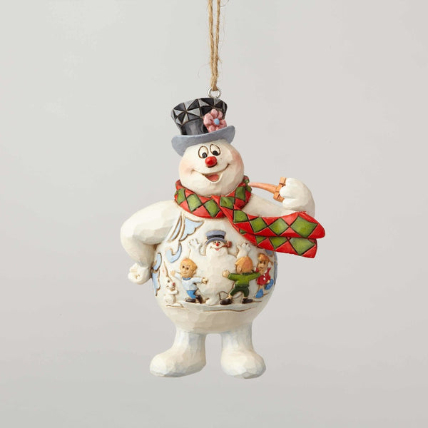 Jim Shore Frosty with Kid Scene on Belly Ornament 6001586
