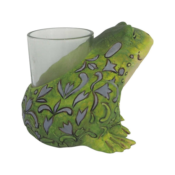 Jim Shore Frog Candle Holder 6001609