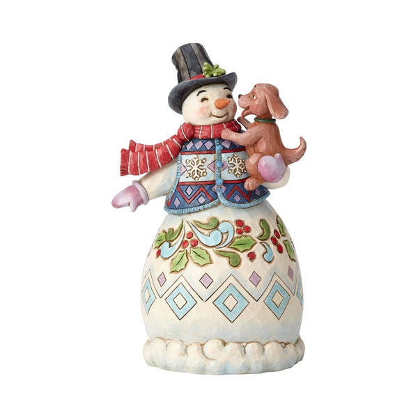 Jim Shore Snowman with Dog 3rd in Series 6002802
