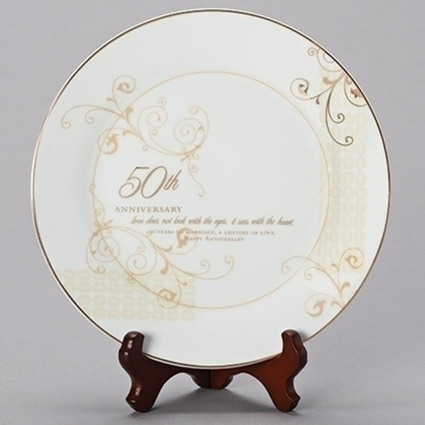 50th Anniversary Plate With Stand 61209