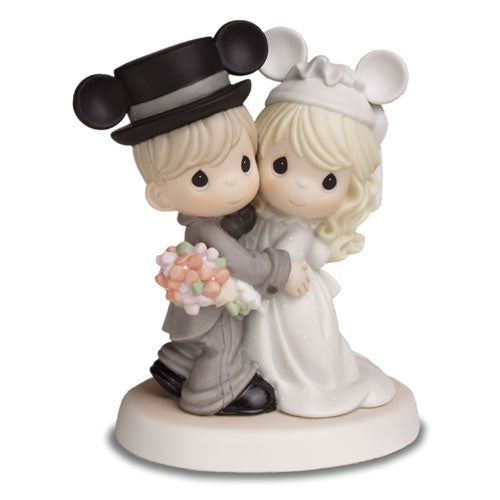 Precious Moments Disney Wedding Couple W/Mickey Ears Magically Ever After 620030