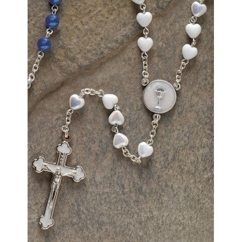 White Communion Rosary 62154