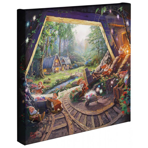Thomas Kinkade Canvas Wraps Snow White And Seven Dwarfs 14x14 67811